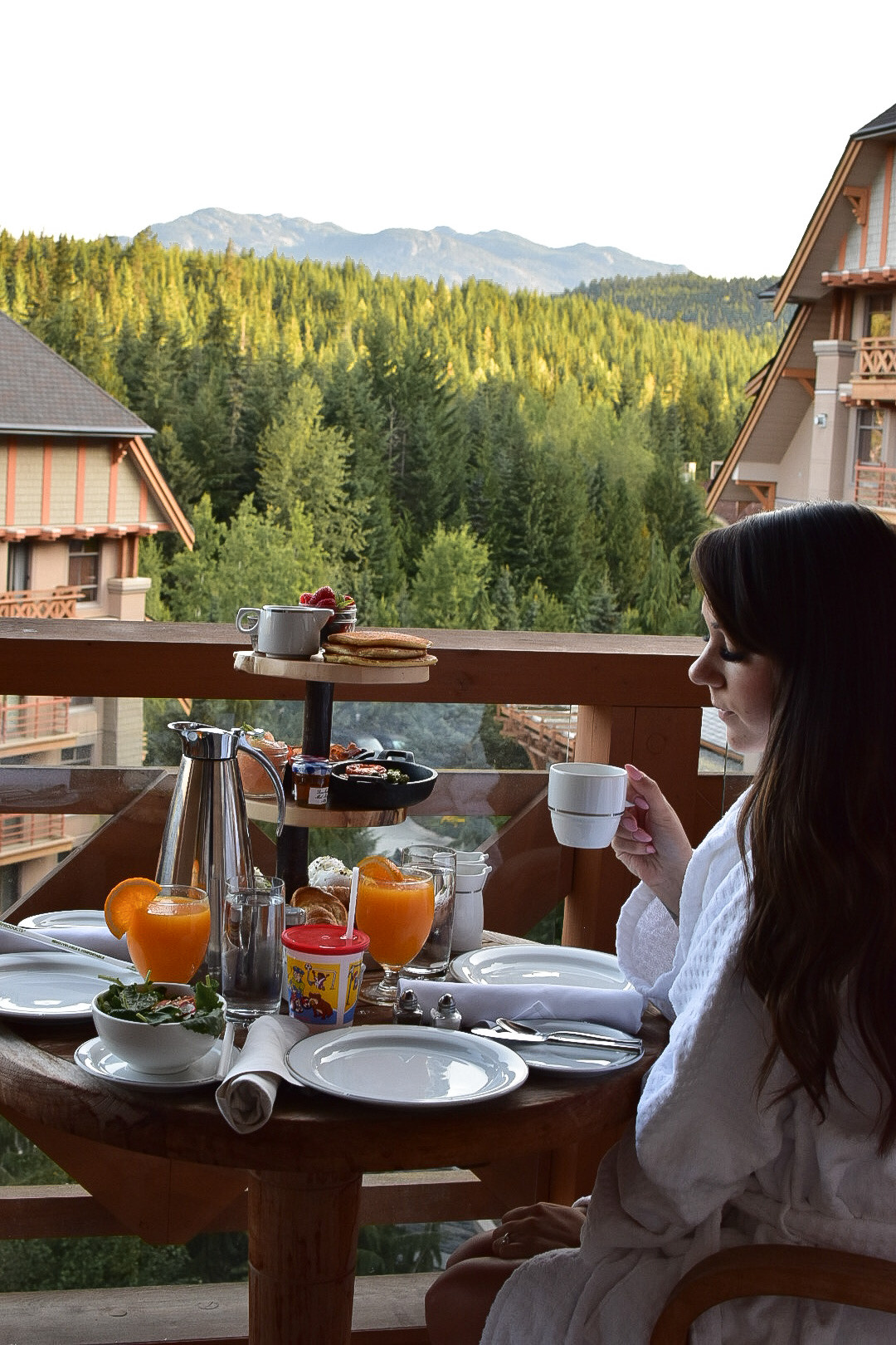 Balcony Breakfast in Whistler